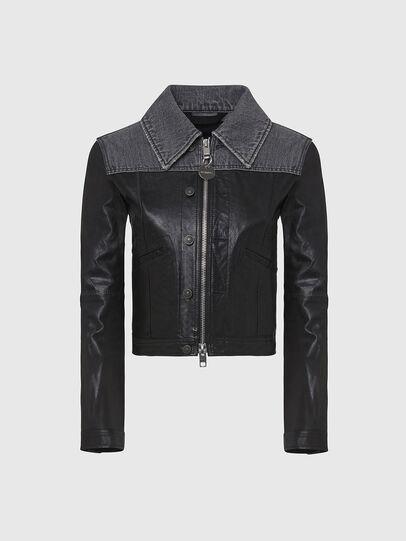 Diesel - L-LYLE, Black - Leather jackets - Image 1