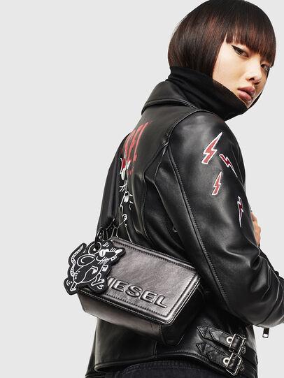 Diesel - ROSA' CNY, Silver - Crossbody Bags - Image 8