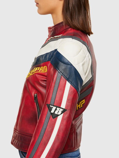 Diesel - L-POLLY, Red - Leather jackets - Image 7