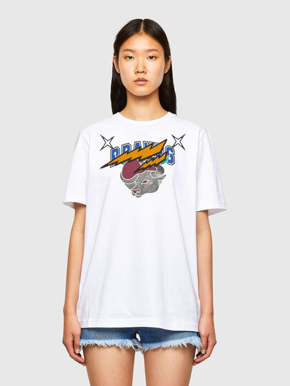 Diesel - CL-T-JUST-O1, White - T-Shirts - Image 2