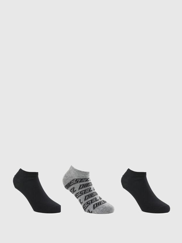 SKM-GOST-THREEPACK, Grey/Black - Socks