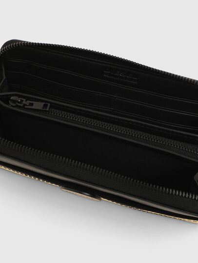 Diesel - GRANATO LC, Gold/Black - Zip-Round Wallets - Image 3