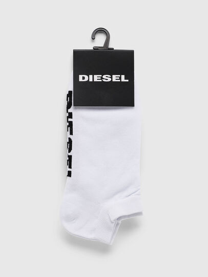 Diesel - SKM-GOST, White - Low-cut socks - Image 2