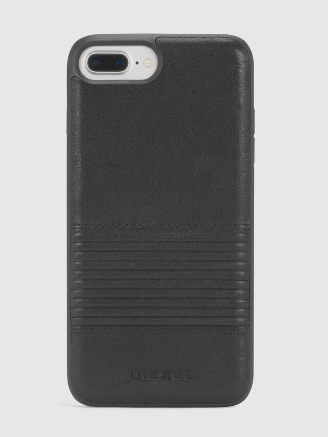 BLACK LINED LEATHER IPHONE 8 PLUS/7 PLUS/6s PLUS/6 PLUS CASE, Black
