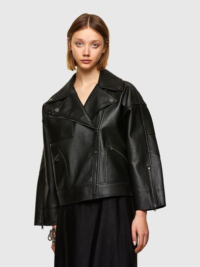 Diesel - L-HAZEL, Black - Leather jackets - Image 1