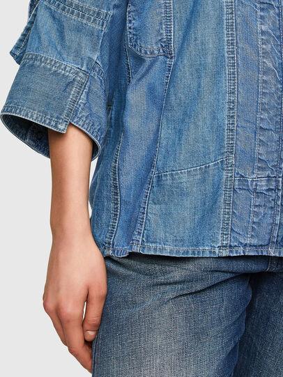 Diesel - DE-RINGLE-MM-SP, Medium blue - Denim Shirts - Image 4
