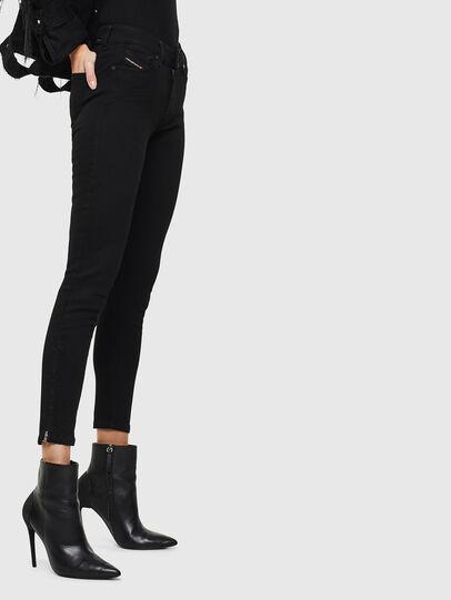 Diesel - Slandy Zip 069EF, Black/Dark grey - Jeans - Image 4