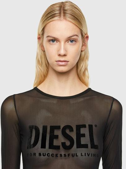 Diesel - UFBY-VALERICK-LS-M, Black - Bodysuits - Image 3