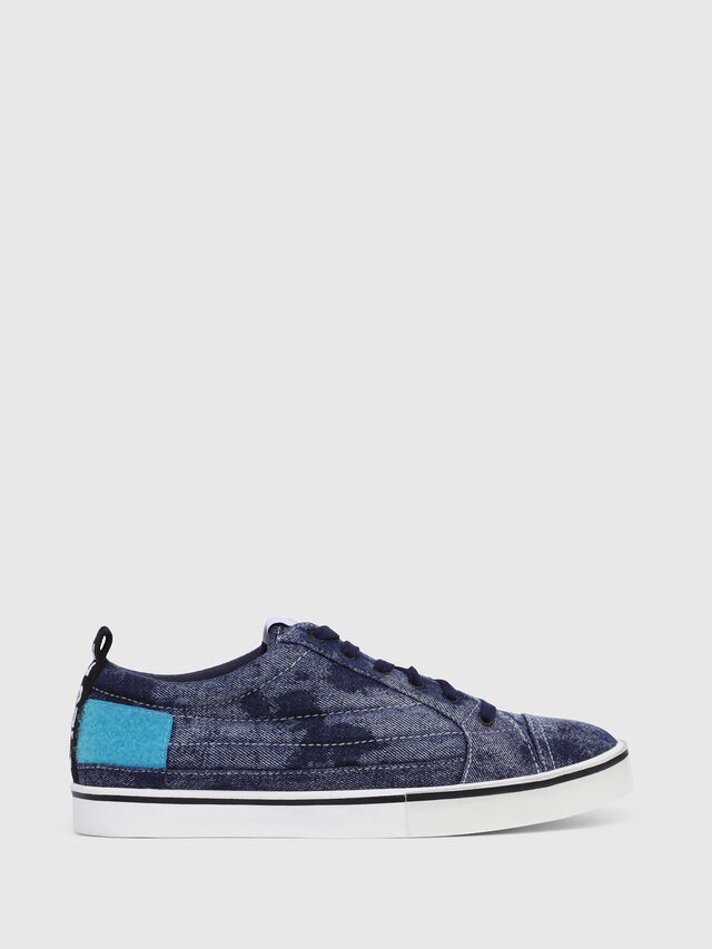 Diesel - D-VELOWS LOW PATCH, Blue Jeans - Sneakers - Image 1