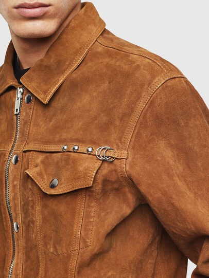 Diesel - L-DEAN, Brown - Leather jackets - Image 4