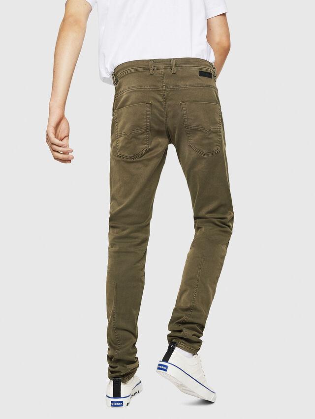 Diesel - Krooley Long JoggJeans 0670M, Military Green - Jeans - Image 2