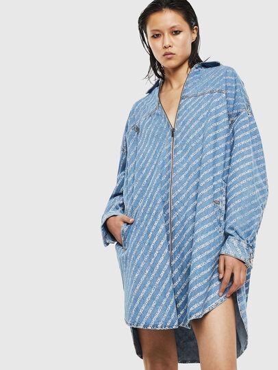 Diesel - DE-SLYX, Light Blue - Dresses - Image 1