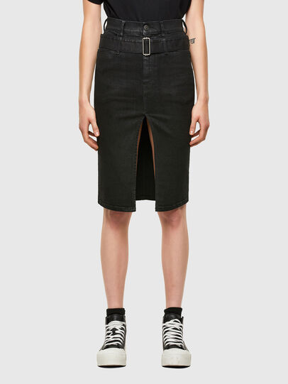 Diesel - DE-FEDY-SP, Black - Skirts - Image 1