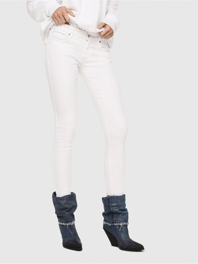 Diesel - Slandy Low 086AC, White - Jeans - Image 1