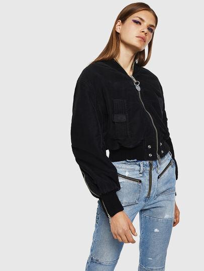 Diesel - W-LESKY, Black - Winter Jackets - Image 1