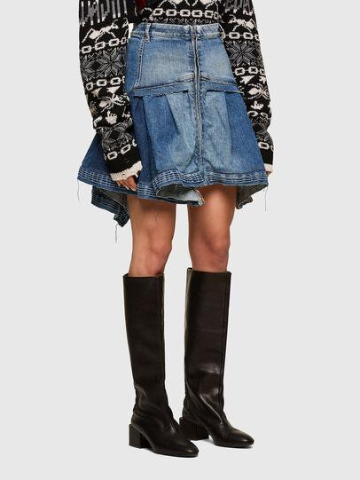 Diesel - OMYNRA, Light Blue - Skirts - Image 3