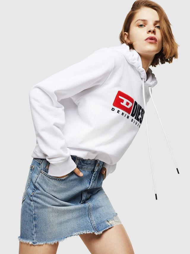 Diesel - F-GIR-HOOD-DIVISION-, White - Sweaters - Image 4