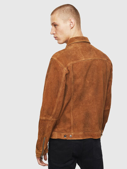 Diesel - L-DEAN, Brown - Leather jackets - Image 2
