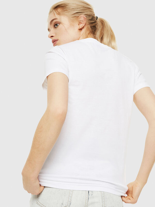 Diesel - T-SILY-WQ, White - T-Shirts - Image 2