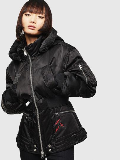 Diesel - CL-W-ISOKE-A-LITM, Black - Winter Jackets - Image 1