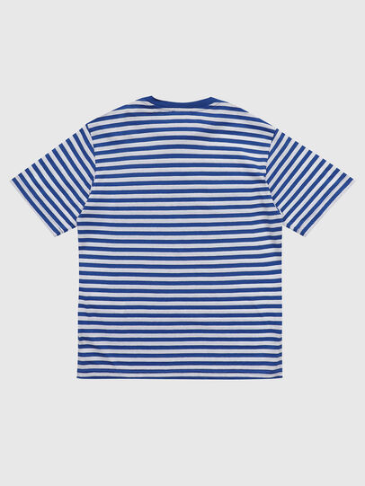 Diesel - TVIKTOR OVER, Blue/White - T-shirts and Tops - Image 2