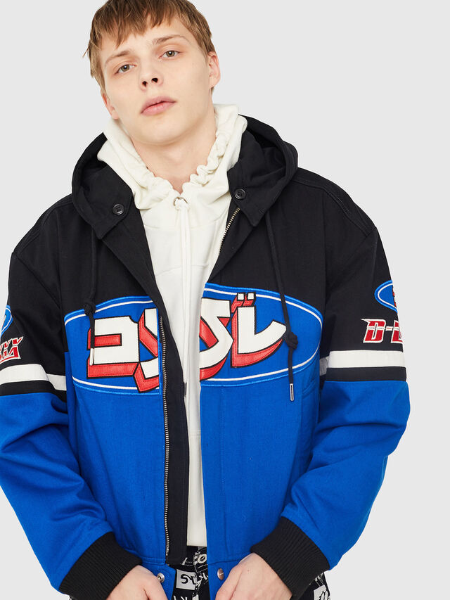 Diesel - J-RAIDEN, Blue/Black - Jackets - Image 1