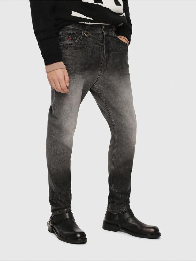 Diesel - D-Aygle 089AU, Black/Dark grey - Jeans - Image 1