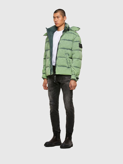 Diesel - W-EVACID, Green Fluo - Winter Jackets - Image 6