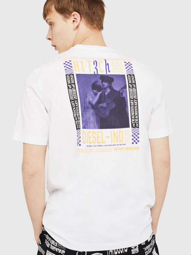 Diesel - T-JUST-Y15, White - T-Shirts - Image 2