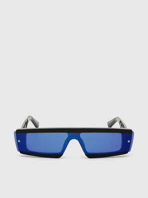 DL0318, Black/Blue - Sunglasses