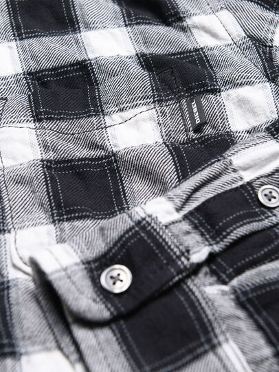 Diesel - CANOBJ, Black/White - Shirts - Image 3