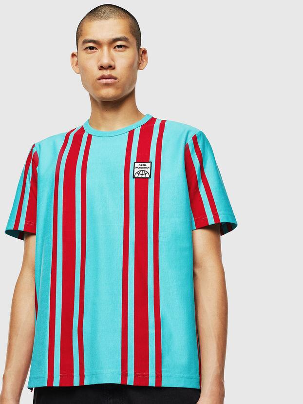 T-STRIP-J1, Blue/Red - T-Shirts