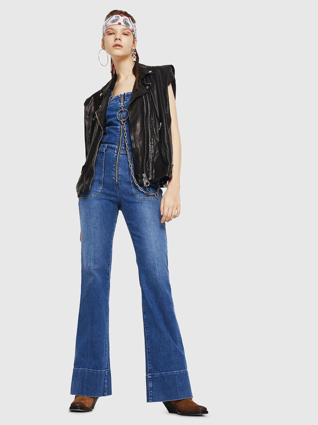 Diesel - DE-THINK, Blue Jeans - Jumpsuits - Image 6