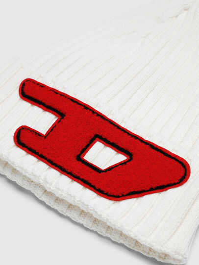 Diesel - K-CODER-D, White - Knit caps - Image 3