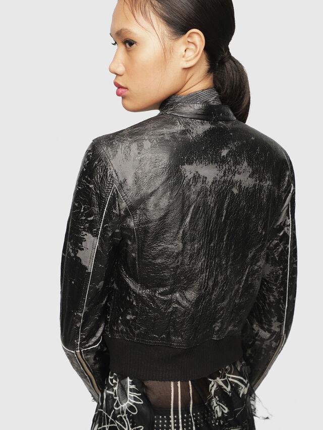 Diesel - L-LYSSA-D, Black - Leather jackets - Image 2