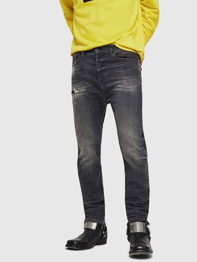 Diesel - D-Vider 069DM, Black/Dark grey - Jeans - Image 1