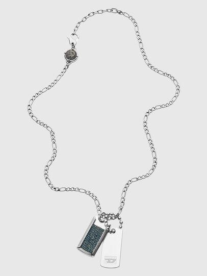 Diesel - DX1246, Silver - Necklaces - Image 1