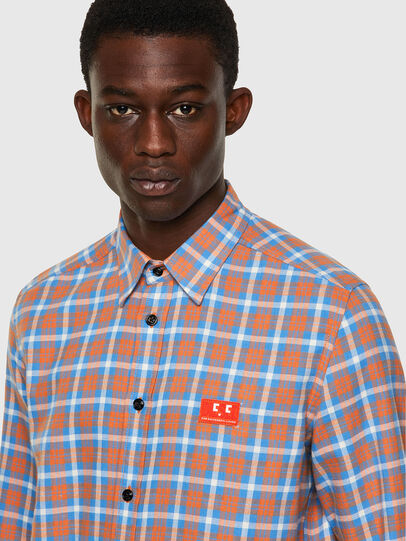 Diesel - S-MOI-CHK-A, Blue/Pink - Shirts - Image 3