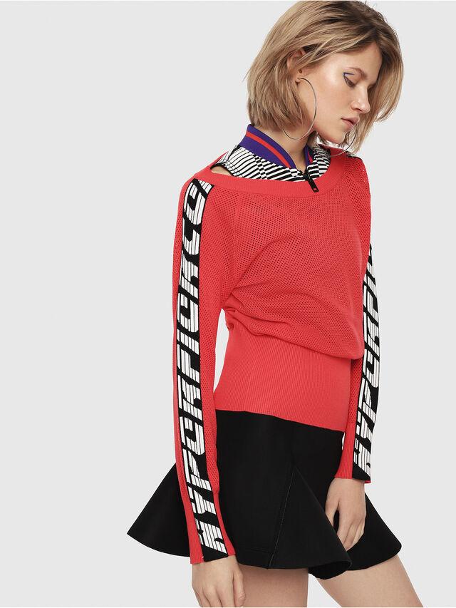 Diesel - M-NANCY, Coral Rose - Knitwear - Image 1
