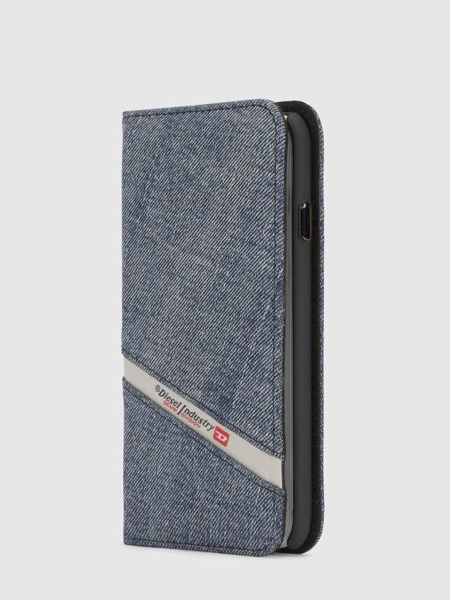 Diesel DENIM IPHONE X FOLIO, Blue Jeans - Flip covers - Image 4