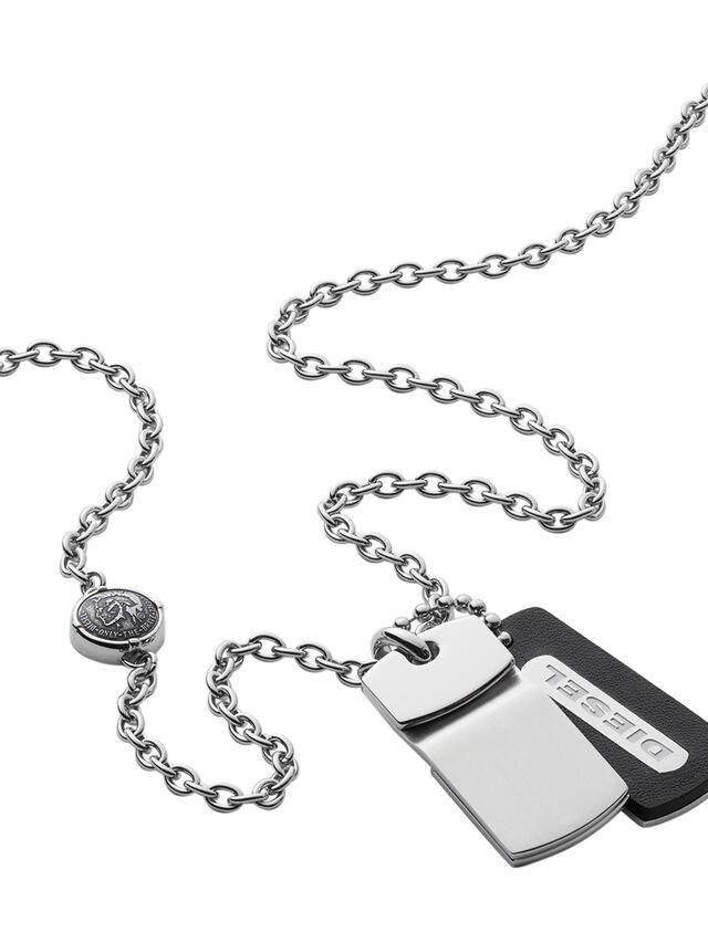 Diesel NECKLACE DX0973, Silver - Necklaces - Image 2