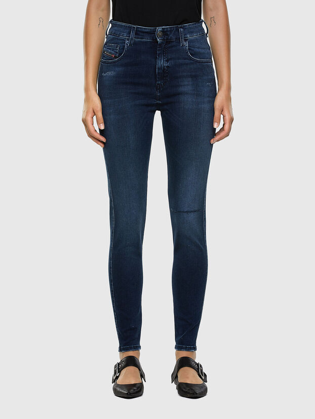 Slandy High 009LR, Medium blue - Jeans