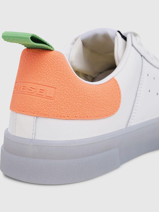 Diesel - S-CLEVER LOW, White/Orange - Sneakers - Image 5