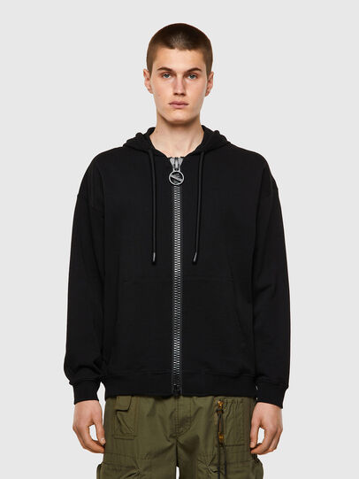 Diesel - S-UMMER-BIGZIP, Black - Sweaters - Image 1