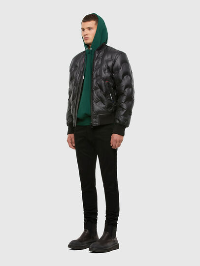 Diesel - W-ON-THERMO, Black - Winter Jackets - Image 6