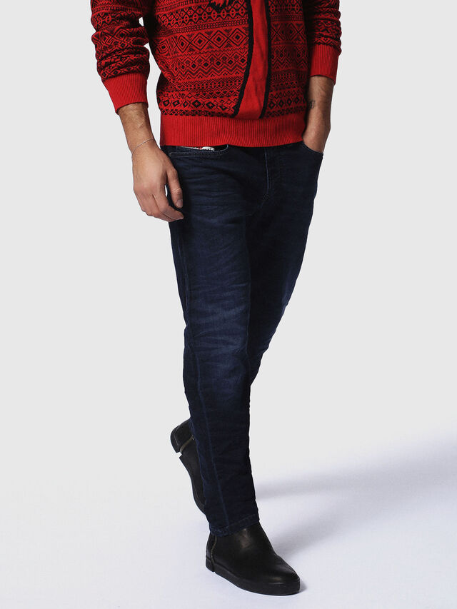 Diesel Waykee JoggJeans 0842W, Dark Blue - Jeans - Image 1