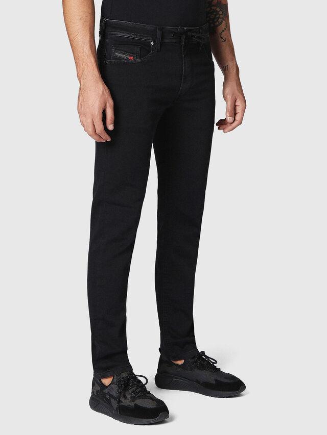 Diesel Thommer JoggJeans 0687Z, Black/Dark grey - Jeans - Image 3