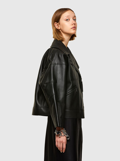 Diesel - L-HAZEL, Black - Leather jackets - Image 3