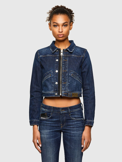 Diesel - DE-BLONDY, Dark Blue - Denim Jackets - Image 1