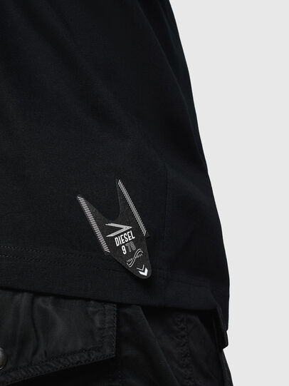 Diesel - T-JUST-LS-NEW, Black - T-Shirts - Image 4